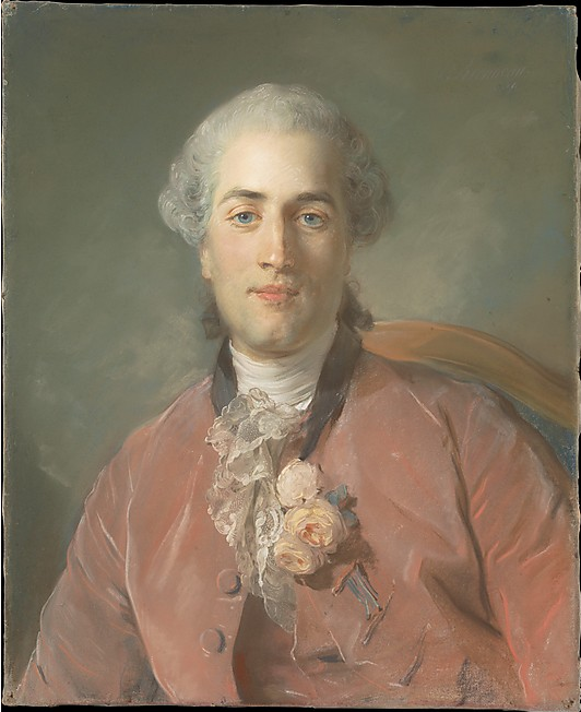 "Jean-Baptiste Perronneau, ""Olivier Journu,"" 1756, pastel on paper laid down on canvas, 22 7/8 x 18 1/2 in, Metropolitan Museum of Art"