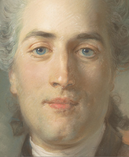 "Jean-Baptiste Perronneau, ""Olivier Journu,"" 1756, pastel on paper laid down on canvas, 22 7/8 x 18 1/2 in, Metropolitan Museum of Art-detail"