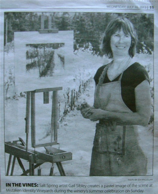 Gail's photo in the Driftwood Newspaper
