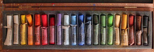 7. Here is the Schminke pastel set from which I chose my pastels for this piece