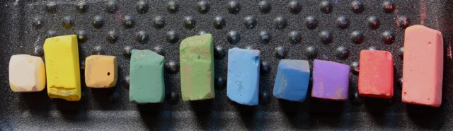 The line-up of the Great American soft pastels used