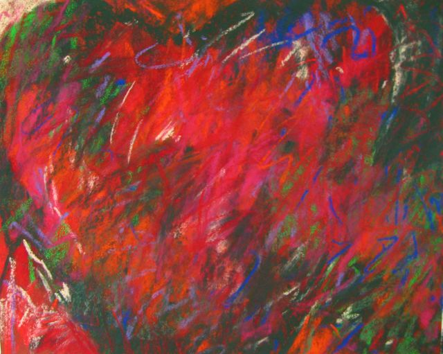 "Gail Sibley, ""A Valentine's Day Heart,"" pastel on paper, 8 x 10 in"