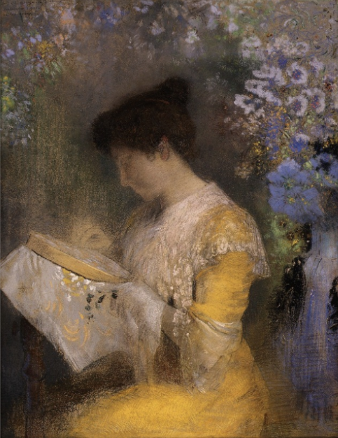 "Odilon Redon, ""Portrait of Madame Arthur Fontaine,"" 1901, pastel on paper, 28.5 x 22.5 in, Metropolitan Museum of Art, New York"