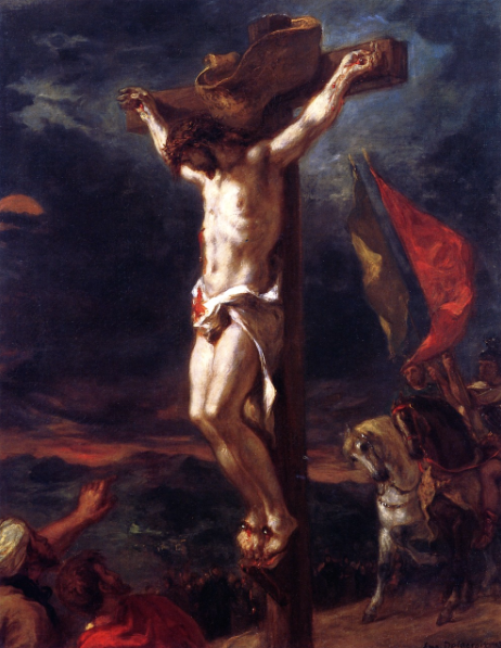 "Eugene Delacroix, ""Christ on the Cross,"" 1846, oil on canvas, 31 1/2 x 25 1/4 in, Walters Art Museum, Baltimore, USA"