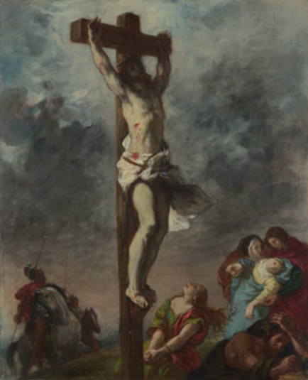 "Eugene Delacroix, ""Christ on the Cross,"" 1853, oil on canvas, 29 x 23 1/2 in, National Gallery, London"