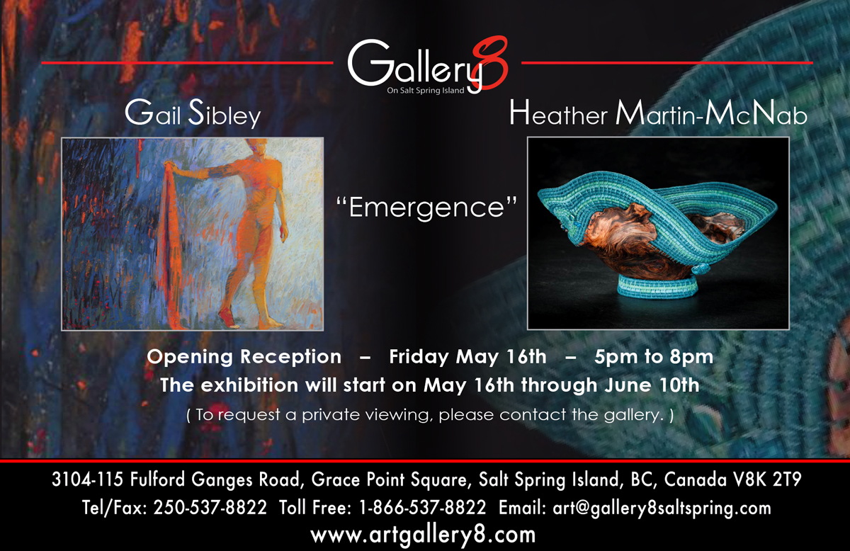 Emergence show invitation showing the pastel 'Inscribed'
