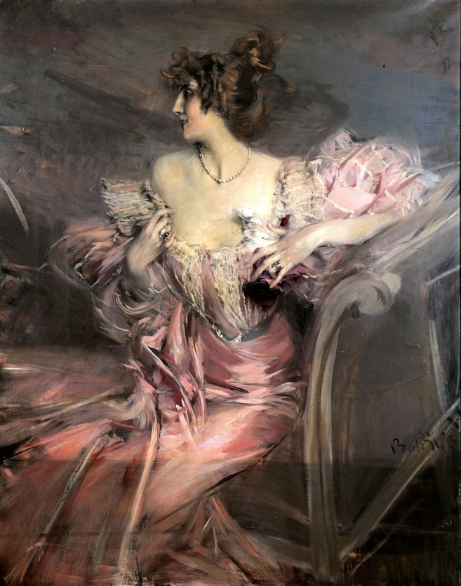 "Giovanni Boldini, ""Portrait of Marthe de Florian, 1888, oil on canvas, size unknown, Private Collection"