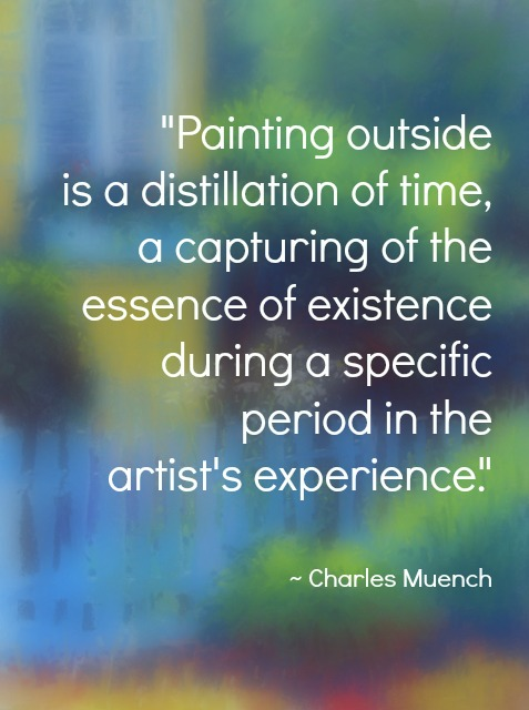 Charles Muench quote about painting on location