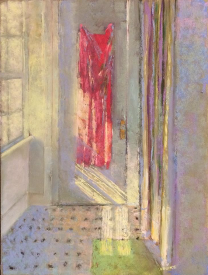 "Catherine Meeks, ""Sunlight and Shower,"" pastel on pastelboard, 16 x 10 in"