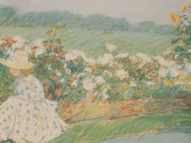 "Childe Hassam, ""Summertime,"" 1891, pastel on paper, 20 x 24 in, Private collection - detail"