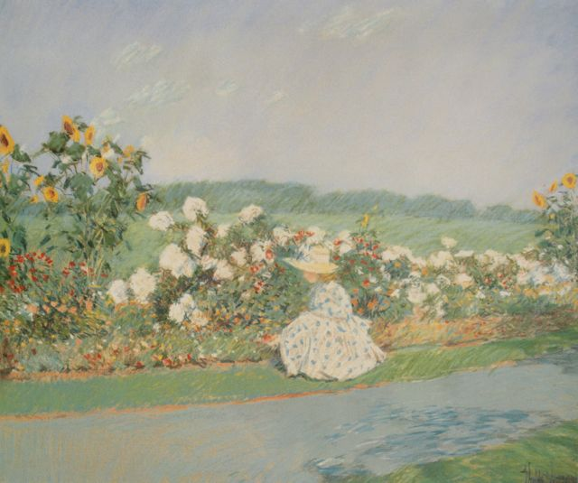 "Childe Hassam, ""Summertime,"" 1891, pastel on paper, 20 x 24 in, Private collection"