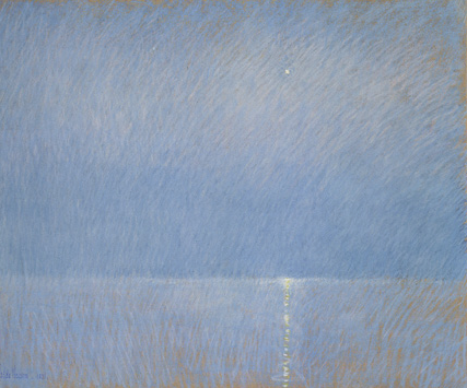 "Childe Hassam, ""The Evening Star,"" 1891, pastel on tan paper, 20 x 24 in, Yale University Beinecke Rare Book and Manuscript Library, New Haven, Connecticut"