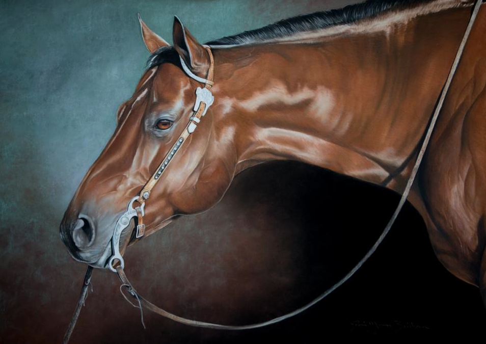 "Joni Beinborn, ""Bertha,"" pastel on pastelmat, 26 x 19 in"