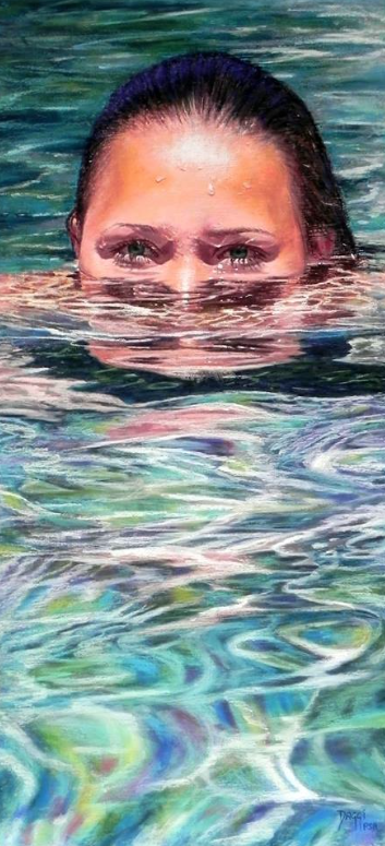 "Daggi Wallace, ""Emergence,"" pastel, 28 x 13 in"