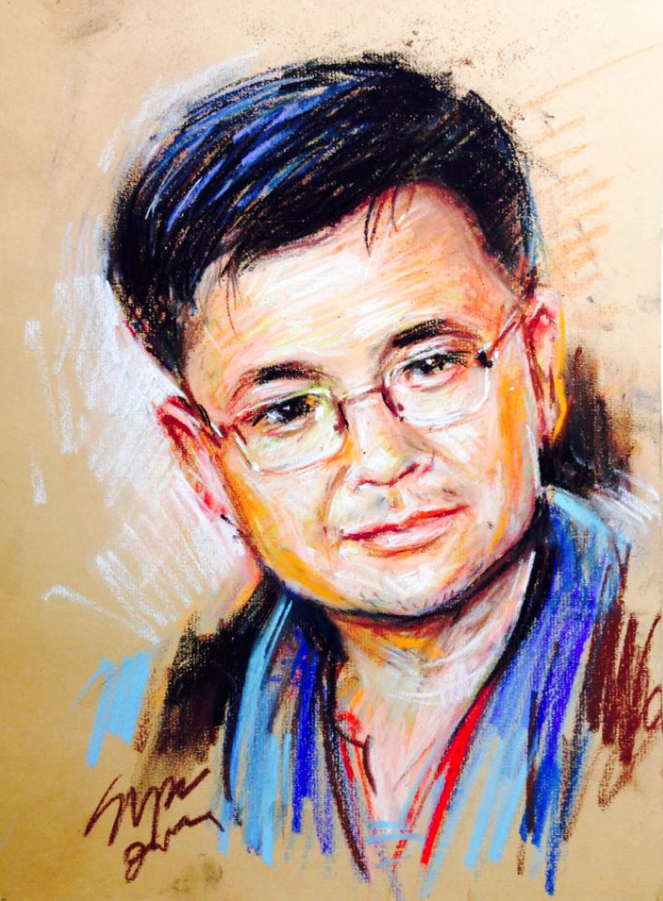 Supapong Yuneyong, Portrait, pastel, 17 x 12 in