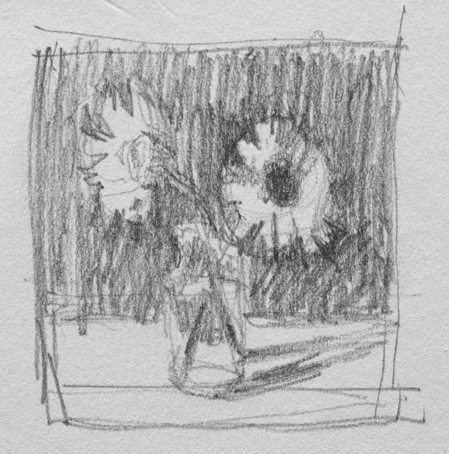 Thumbnail of two daisies in a vase