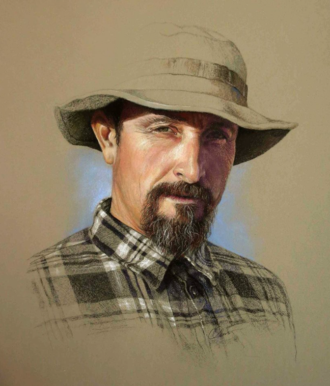 "A pastel gem - Christine Obers, ""Commissioned Portrait of Stephen Olmstead,"" Nupastel, Unison and pencils on Art Spectrum Colourfix paper, 10 x 8 in"
