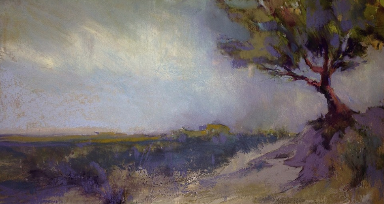 "A pastel gem - Jeri Greenberg, ""Dusk on the Dune,"" pastel on UArt400 paper, 7 x 11 in"