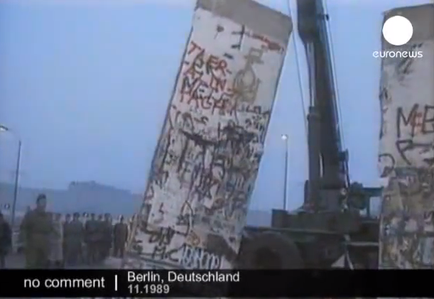 The Berlin Wall comesdown http://youtu.be/zmRPP2WXX0U
