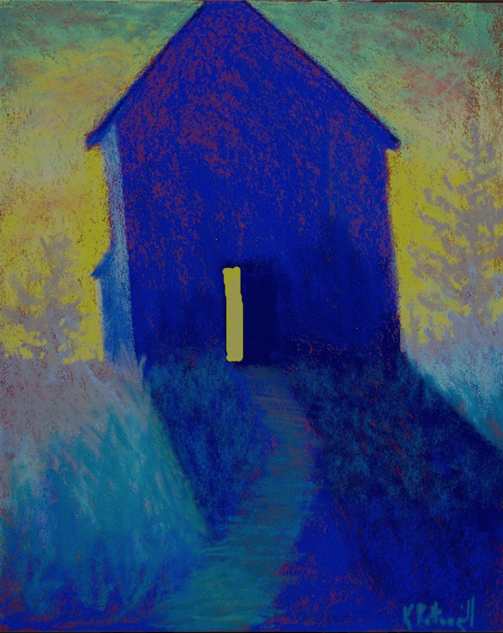 "Karen Pettengill, ""First Light,"" pastel, 14 x 11 in"