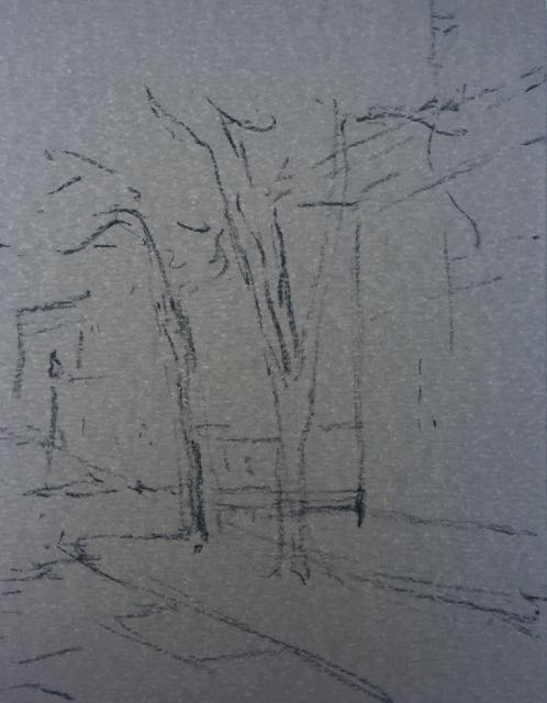 drawing for the plein air pastel