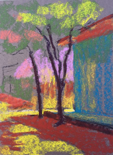 3. More colour added to the plein air pastel