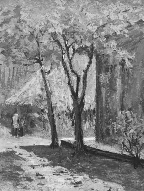 11. A look at the same plein air pastel in black and white