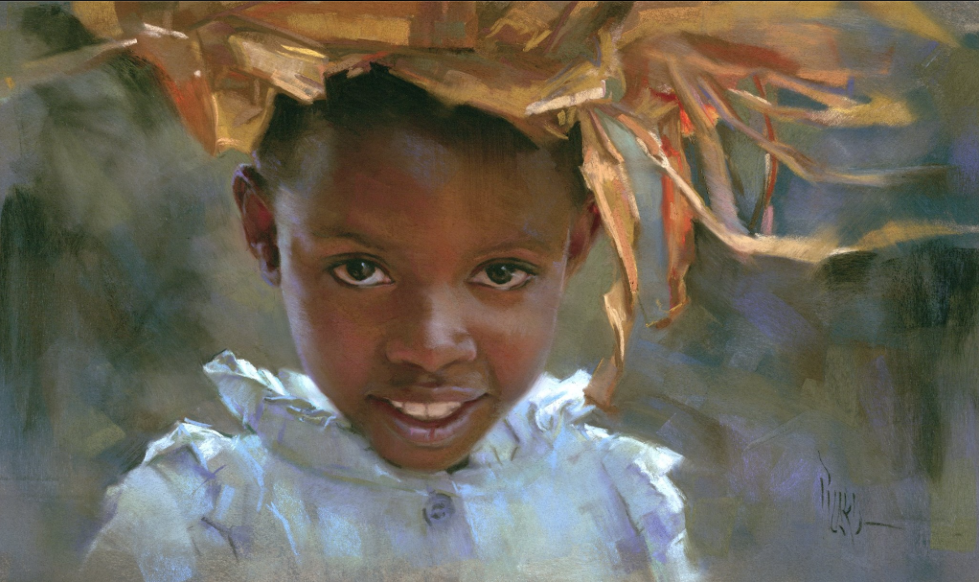 "Pastel Delight: Alain Picard, ""Evelyn,"" pastel, 11 x 19 in"