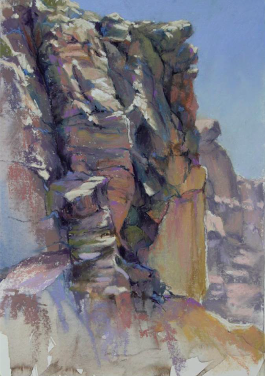 "Pastel delights: Diana Fechenbach, ""Canyon Rocks,"" pastel, 12 x 10 in"