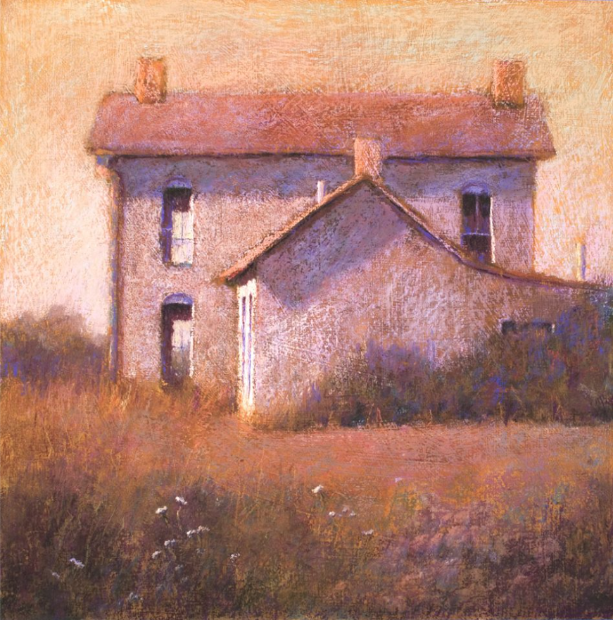 "Pastel delights: Marie Maines, ""I69 House/Late Afternoon,"" pastel, 20 x 20 in"