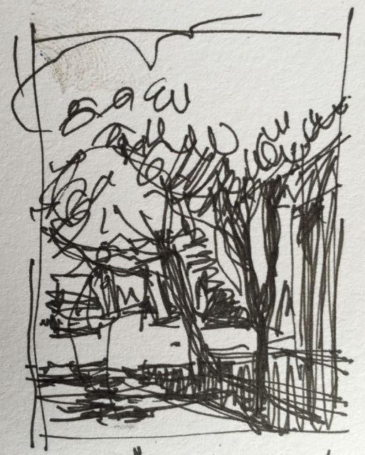 The thumbnail I thought I was following for the plein air pastel!