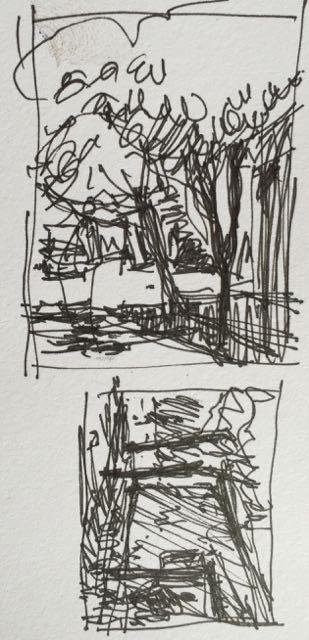 Thumbnails in preparation for plein air pastel