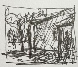 The thumbnail sketch I didn't use for the plein air pastel