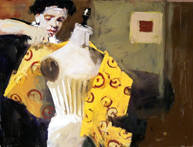 "Pastel wonders: Jody dePew McLeane, ""Costumer With Dress Form,"" pastel, 18 x 24 in"