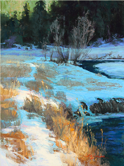 "Pastel wonders: Kim Lordier, ""Bear Creek Alchemy,"" pastel, 24 x 18 in"