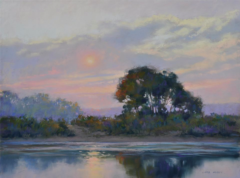 "Pastel Wonders: Linda Ramsdell Mutti, ""Every Cloud Has a Silver Lining,"" Terry Ludwig and Unison pastel on UArt 340, 12 x 16 in"