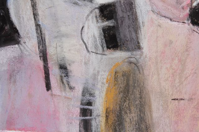 "13. 12. Gail Sibley, Variation on Diebenkorn's 'M'"", pastel on Canson Touch, 22 x 30 in, close-up 3"