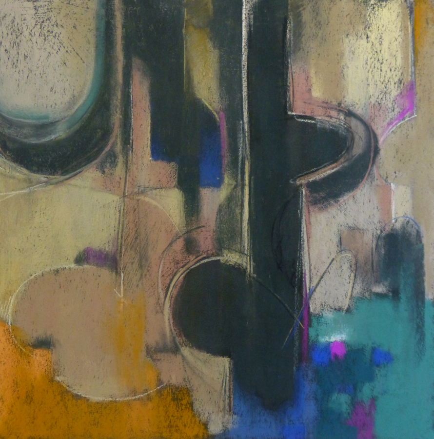 "Arlene Richman, ""Rift in Time,"" pastel, 21 x 21 in. This painting won 5th place in the Abstract category in The Pastel Journal's 100 competition in 2014"