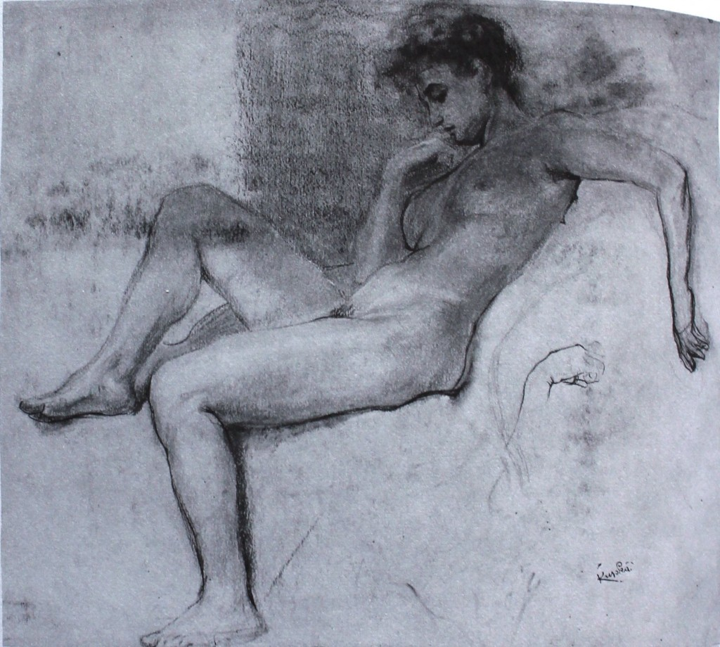 "Frantisek Kupka, ""Study for Planes by Colours, Large Nude,"" 1906-07, pastel on paper, 19 3/4 x 23 1/4 in (50 x 59 cm), Private Collection - Joseph H. Hazen"