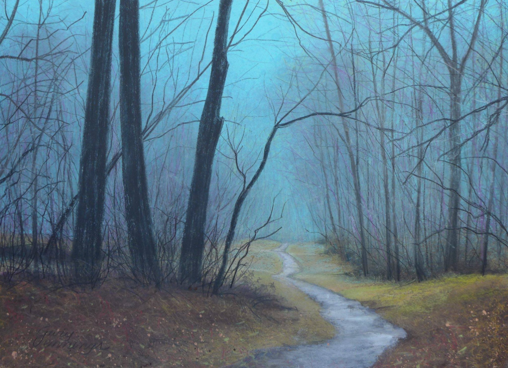 "Pastel favourites: Gary Edward Jennings, ""Winter Path,"" pastel, 12 x 16 in"