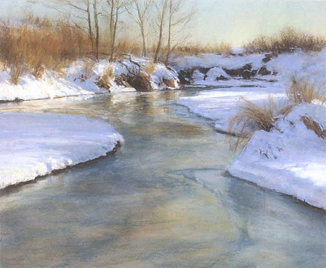 "Pastel favourites: Lorenzo Chavez, ""Highline In Winter,"" pastel on Canson, 16 x 20 in"