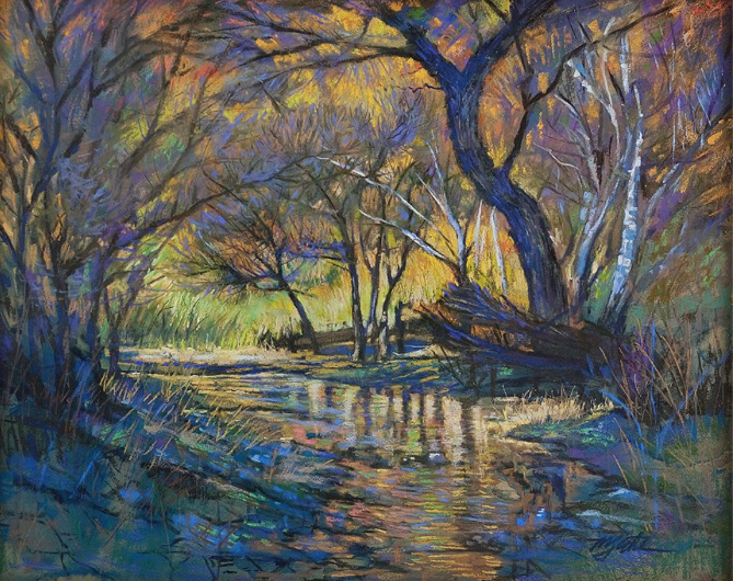 "Pastel favourites: Mike Etie, ""Oak Creek in Sedona,"" pastel on sanded paper, 22 x 26 in"