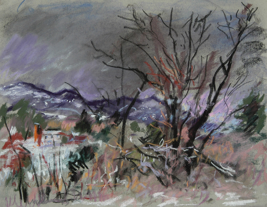 "Pastel favourites: Raoul Middleman, ""Vermont Winter,"" 2007, pastel on paper, 12 x 16 in"