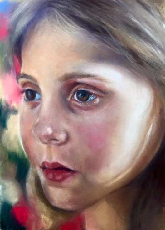"May's Fabulous Pastels: Carol Muro, ""Daughter,"" pastel, 12 x 8 in"