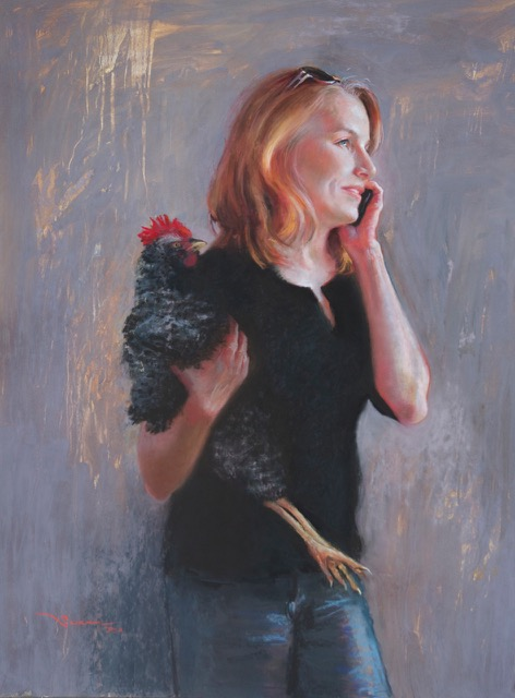 "IAPS Interviews: Christine Swann, ""Half-Cocked,"" pastel, 40 x 30 in"