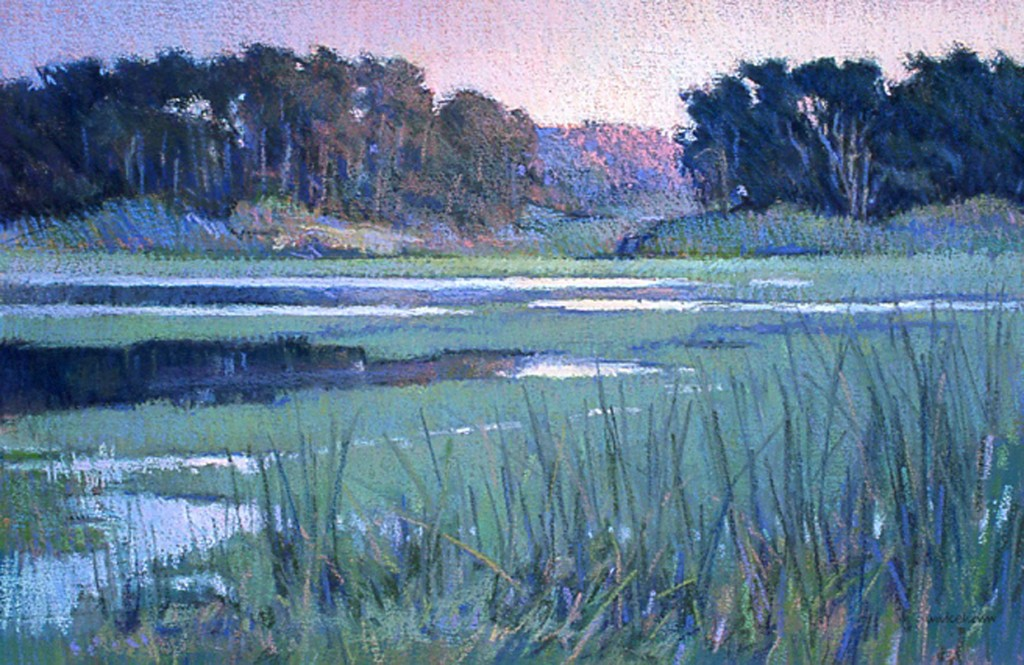 "IAPS interviews: Duane Wakeham, ""August Evening, McKerricher,"" pastel, 19 x 29 in"