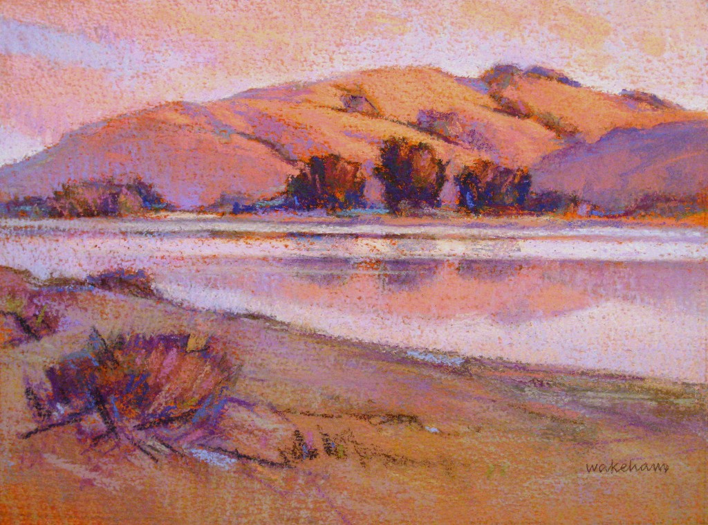 "IAPS interviews: Duane Wakeham, ""Summer Evening, Russian River, Study,"" pastel, 9 x 12 in"