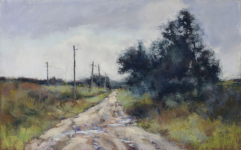 "The Landscape Interviews: Lyn Asselta, ""Forgotten,"" pastel, 13 x 21 in"
