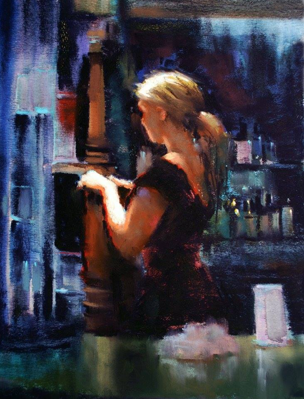 "May's Fabulous Pastels: Marla Baggetta, ""Closing Time,"" pastel, 12 x 9 in"