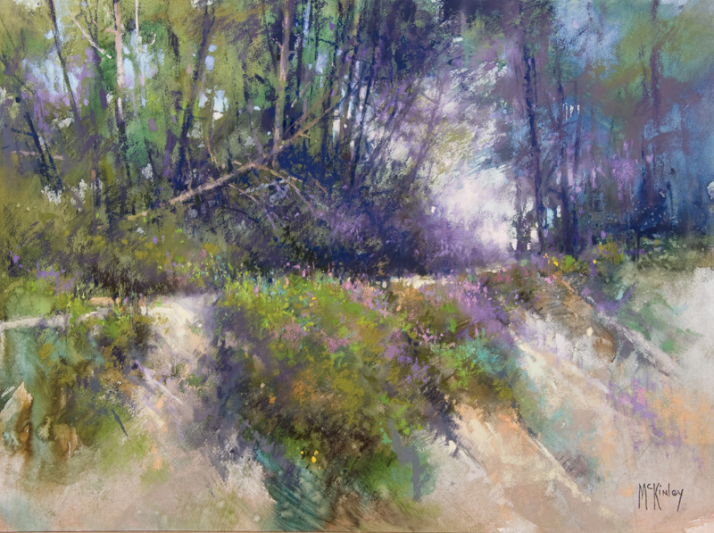 "the Landscape Interviews: Richard McKinley, ""Edge of the Bank,"" pastel, 12 x 16 in"